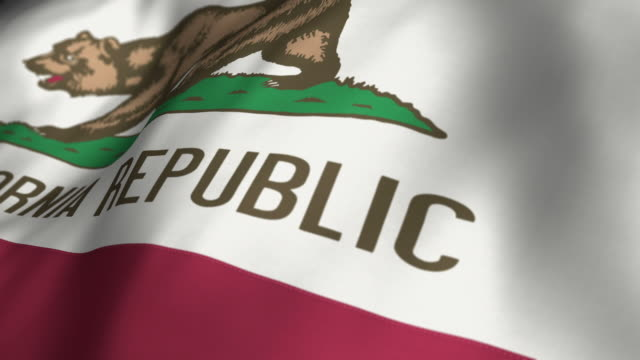 California Flag Slow Motion - Looping video
