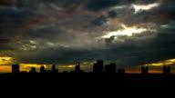 California Sacramento skyline late afternoon video
