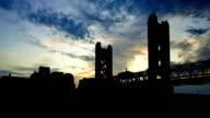 California Sacramento Tower Bridge sunset video
