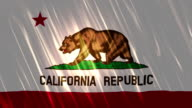 California State Loopable Flag video
