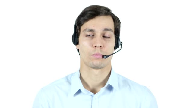 Call Center Talking with Customer Concept, Helpline video