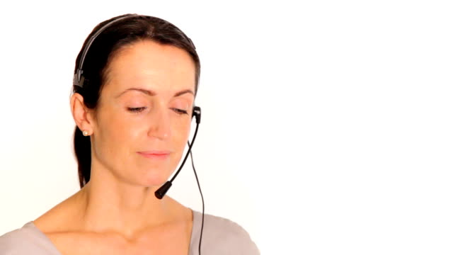 Call Centre professional listening patiently video