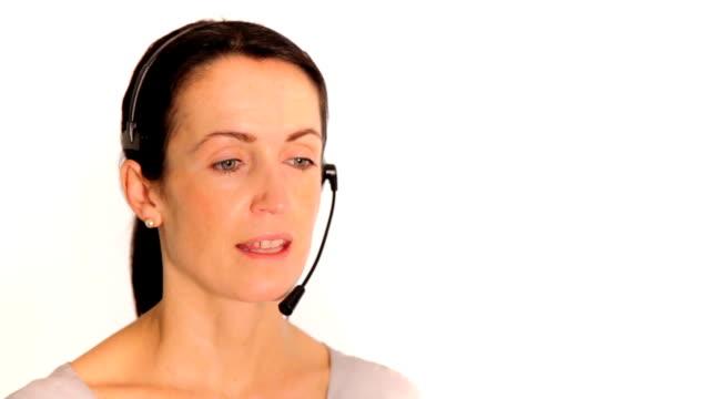 Call centre professional video