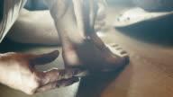 callus on foot f adult man video