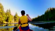 Calm Lake Paddle on Summer Day, Camera Pan video