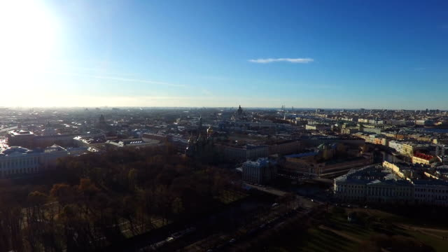 Calm Sunny Day In St.-Petersburg City, Russia video