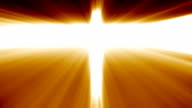 Calvary cross of christ and sun rising sky video