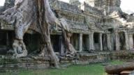 Cambodia Angkor Wat temple ancient ruin buildings Preah Khan video