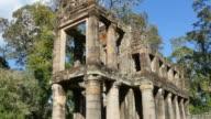 Cambodia Angkor Wat temple ancient ruin complex Preah Khan video
