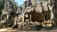 Cambodia Angkor Wat temple ancient ruin complex Ta Som video