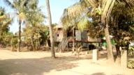 Cambodian tranquil village houses in rural life video