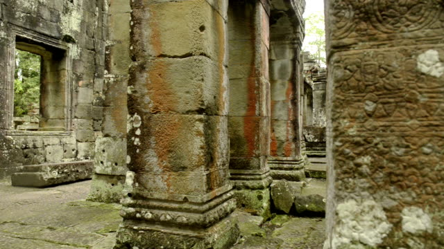 Cambodian UNESCO World Heritage Site Bantey Kdey temple video HD video