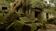 Cambodian UNESCO World Heritage Site Ta Prohm temple video HD video