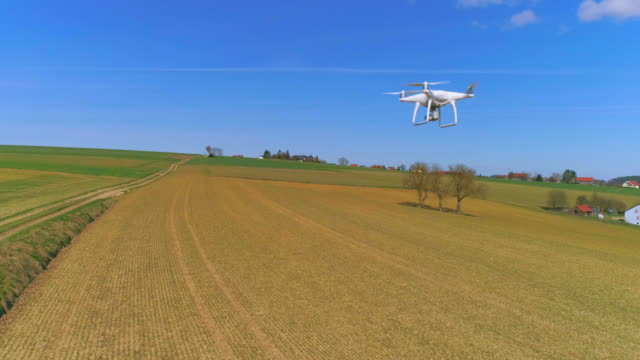 Camera Drone Flying In Open Country video