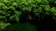 Camera flies along the lake video