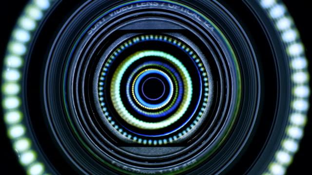Camera lens flare video