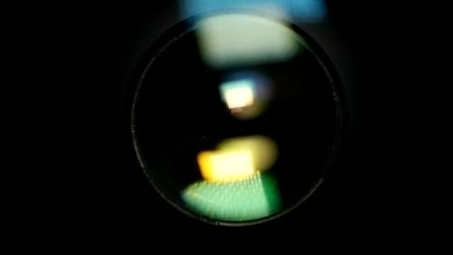Camera Lens Reflection. Lens Flare video