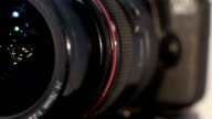 Camera lens with lense reflection - turns video