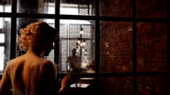 camera move to the back of the bride and silhouette of her groom. Inspiration shot video