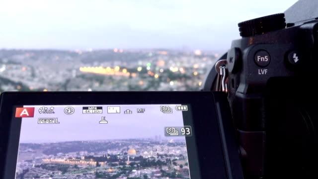 Camera shoots photo of the Jerusalem Old City video