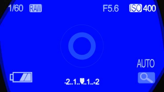 Camera Shutter POV on a Blue Screen video