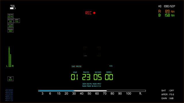 Camera viewfinder video