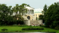 Cameron Gallery and lake, Tsarskoe selo, St. Petersburg, Russia video