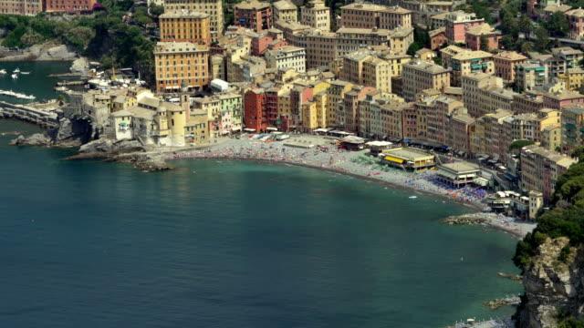 Camogli panorama in sunny day video HD video