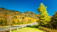Camper Driving on NC Blue Ridge Parkway in the Fall video