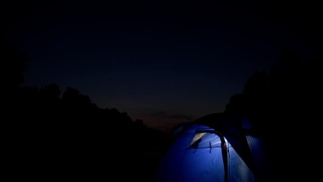 HD CRANE: Camping At Night video