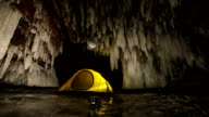 Camping in an ice cave video