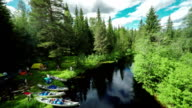 AERIAL: Camping in the Wilderness - Canoeing Sweden video