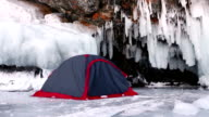 Camping on ice video