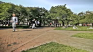 Campus Pedestrian Traffic Time Lapse Effect video