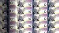 Canada dollar printing - animation video