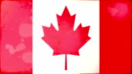 Canada Flag - Grunge. HD video