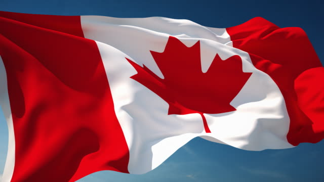 4K Canada Flag - Loopable video