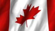 Canada Flag - looping, waving video