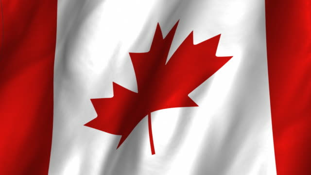 Canada Flag - looping, waving video