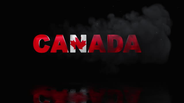 Canada Flag On Title is Revealing with Fire video