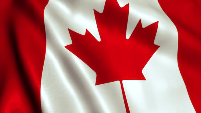 Canada Flag Video Loop - 4K video