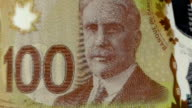 Canadian Dollar banknote Transition video