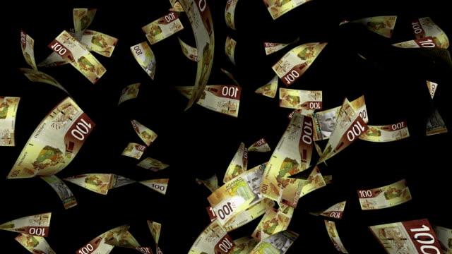 Canadian Dollar Falling  with Luma Matte video