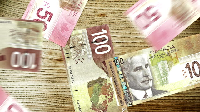 Canadian Dollar Transiton with Luma Matte video