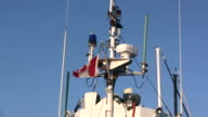 HD: Canadian Flag and boat Radar - Two clips video