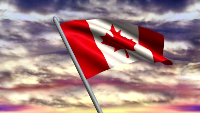 Canadian Flag Animation video