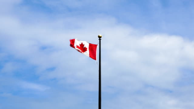 Canadian Flag Flapping in the Strong Wind 3 video