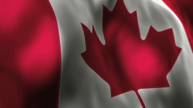 Canadian Flag High Detail - Looping video