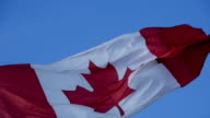 Canadian flag in slow motion - Close view video