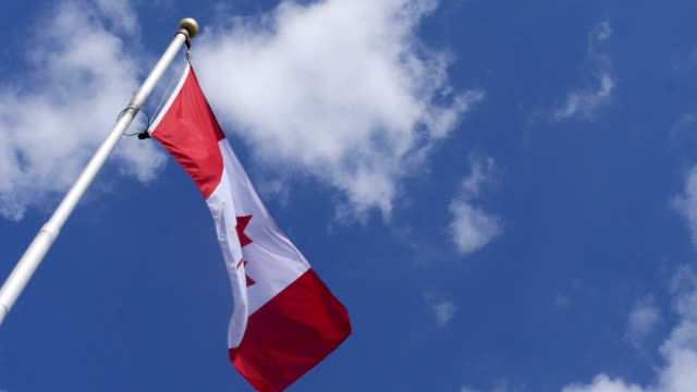Canadian flag in slow motion video